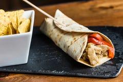 Fleisch Burrito Lizenzfreies Stockfoto