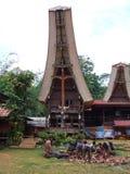 Fleisch dargestellt auf Begräbnis in Tana Toraja Lizenzfreies Stockbild