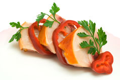 Fleisch des Huhns Stockfotos