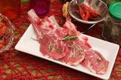 Fleisch eines Lamms Stockbild