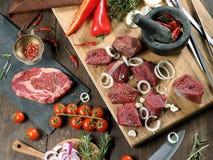 Fleisch für einen Grill Lizenzfreie Stockfotografie
