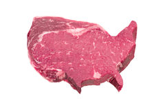 Fleisch in Form U S A Lizenzfreie Stockbilder