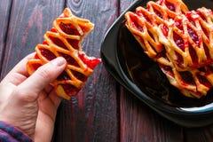 Fleisch fressende Plätzchen mit Stau Lizenzfreies Stockbild