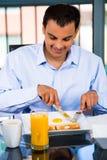 Fleisch fressendes Frühstück lizenzfreie stockfotografie