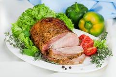 Fleisch gebacken mit Experten lizenzfreie stockfotos