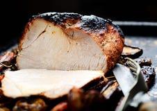 Fleisch gebacken mit Gemüse Stockfoto