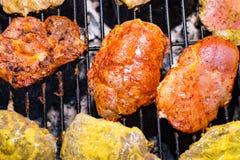 Fleisch am Grill 2 Stockbild