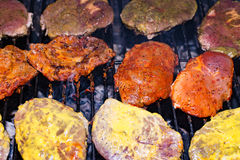 Fleisch am Grill Lizenzfreie Stockfotografie