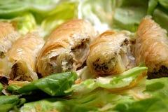 Fleisch im pastery Stockbild
