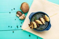 Fleisch-Mehlklöße - Russe kochte pelmeni in der Platte Lizenzfreies Stockfoto