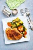 Fleisch mit Gemüse stockbild