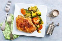 Fleisch mit Gemüse lizenzfreies stockbild