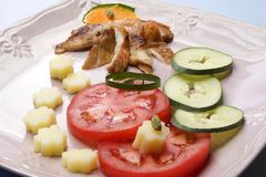 Fleisch mit Gemüse Lizenzfreie Stockfotos