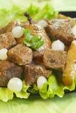 Fleisch mit Gemüse Lizenzfreie Stockbilder