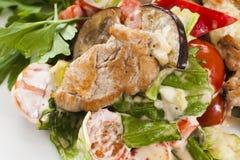 Fleisch mit Gemüse und Kräutern Lizenzfreie Stockfotos