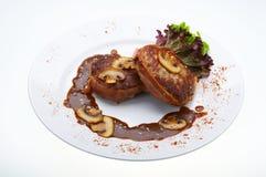 Fleisch mit Pilzen Stockfotos