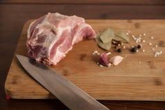 Fleisch mit Schweinefleisch Stockfoto