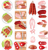 Fleisch-Produkte Stockfotos