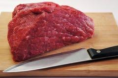 Fleisch-rohes Steak Stockfoto