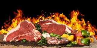 Fleisch-rohes Steak Stockbild