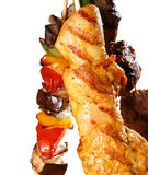 Fleisch und Gemüse Lizenzfreies Stockbild