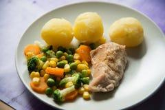 Fleisch und Gemüse Lizenzfreies Stockfoto