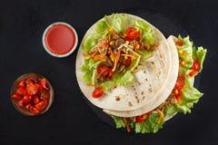 Fleisch- und Gemüseverpackungen stockfotografie