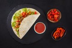 Fleisch- und Gemüseverpackungen lizenzfreies stockbild