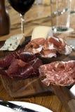 Fleisch und Käse 2 Stockbild
