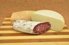 Fleisch und Käse Lizenzfreies Stockfoto