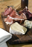 Fleisch und Käse Stockfotos