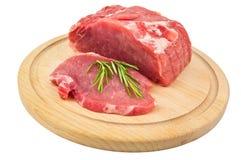 Fleisch und Rosmarin Lizenzfreies Stockfoto