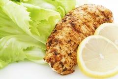 Fleisch und Salat stockbilder