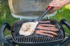 Fleisch und Würste für Grill Lizenzfreie Stockbilder