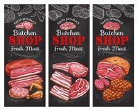 Fleisch- und Wursttafelfahne von buncher kaufen stock abbildung