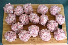 Fleischbälle Lizenzfreies Stockfoto
