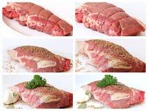 Fleischcollage Stockbilder