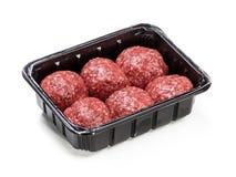 Fleischfleischprodukt für das Kochen gepackt im Kasten Lizenzfreie Stockbilder