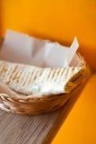 Fleischkebab im Pittabrot Lizenzfreies Stockbild