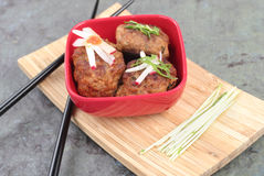 Fleischklöschen-Asiats-Art Stockbilder