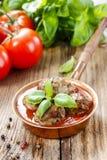 Fleischklöschen in der Tomatensauce Stockfoto