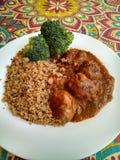 Fleischklöschen mit Quinoa Stockfotografie