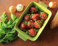 Fleischklöschen mit Tomatensauce Stockfoto