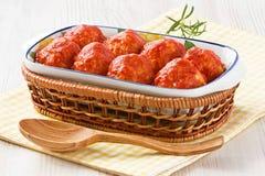 Fleischklöschen mit Tomatensauce Lizenzfreies Stockfoto