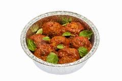 Fleischklöschen mit Tomatensauce Lizenzfreies Stockbild