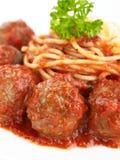 Fleischklöschen-Teigwaren Lizenzfreie Stockfotos