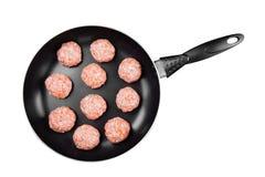Fleischklöschen vom Hackfleisch Stockfotografie