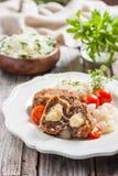 Fleischkoteletts mit Käse Zrazy-Käse Stockbild