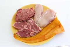 Fleischmehrlagenplatte lizenzfreie stockfotos