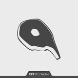 Fleischscheibenikone für Netz und Mobile Lizenzfreies Stockfoto